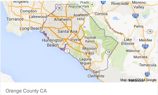 Orange County Californa Map